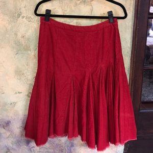 Sitwell Anthropologie Raw Edge Corduroy Skirt